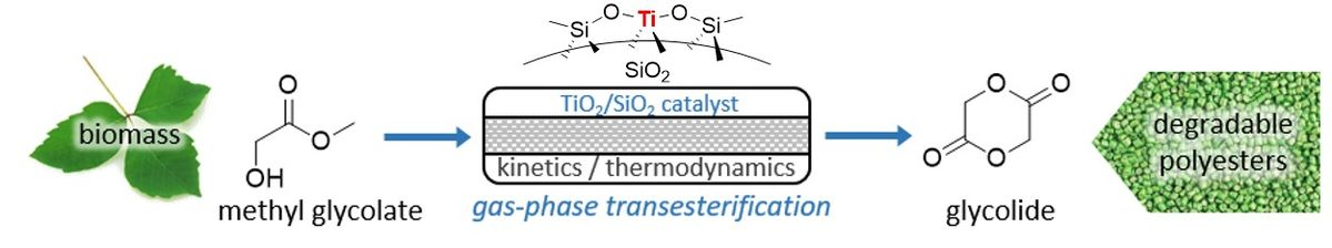 Catalytic Gas‐Phase Cyclization of Glycolate Esters: a Novel Route Toward Glycolide‐Based Bioplastics
