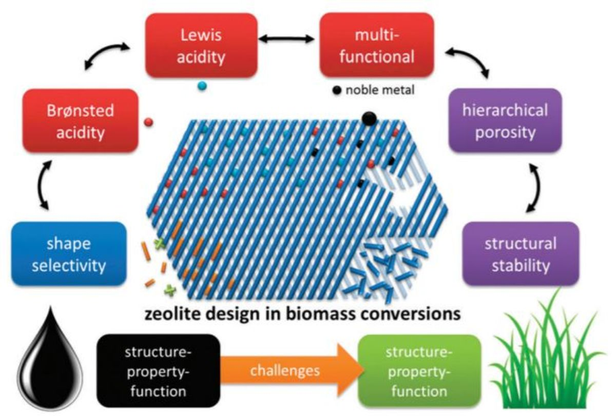 Potential and challenges of zeolite chemistry in the catalytic conversion of biomass