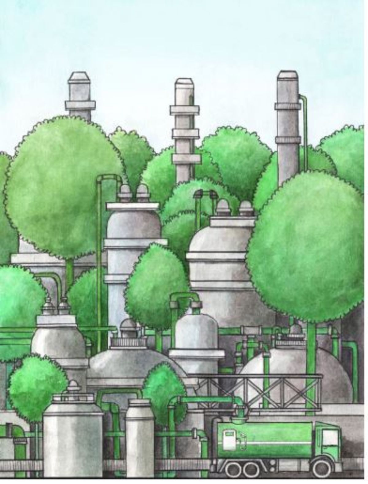 Direct upstream integration of biogasoline production into current light straight run naphtha petrorefinery processes.